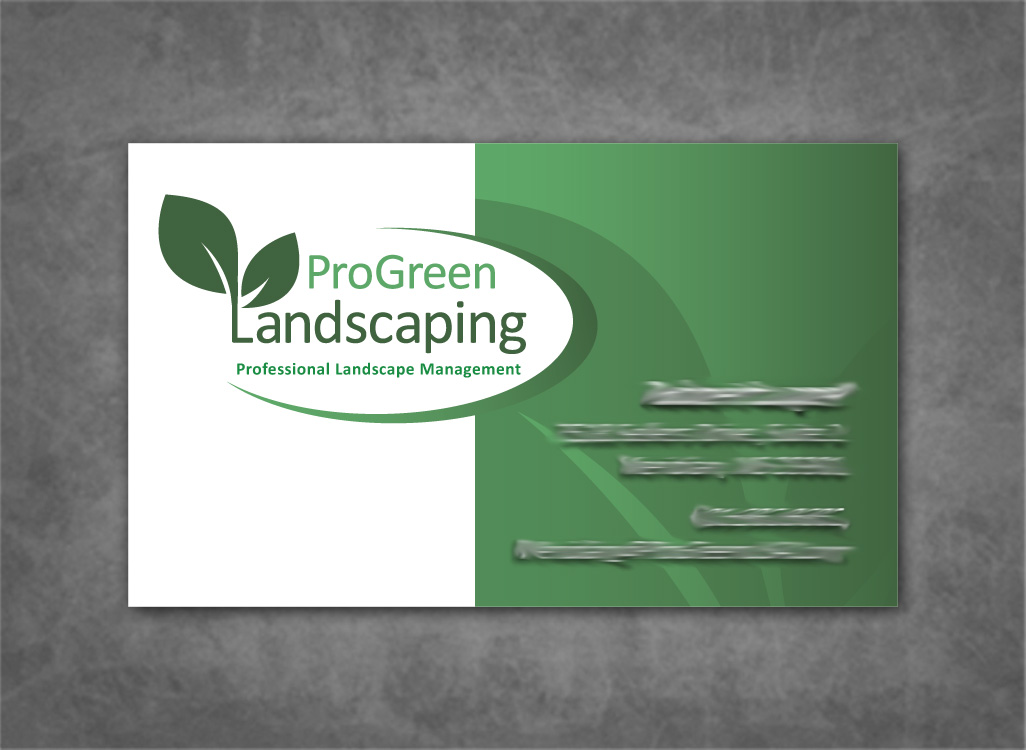 Gallery For Landscaping pany Business Card