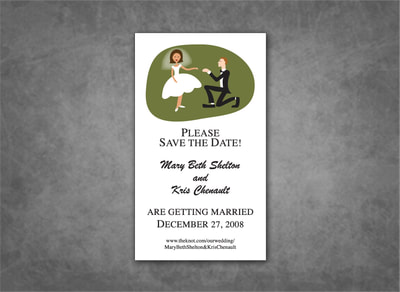 Bride and Groom Save the Date Magnet