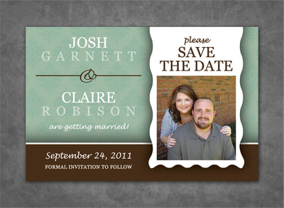 Mint Chocolate Save the Date Magnet