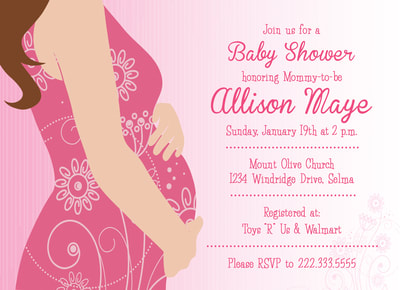 Mommy-to-be Baby Shower Invitation