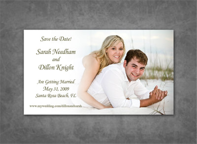 Simple Photo Save the Date Magnet